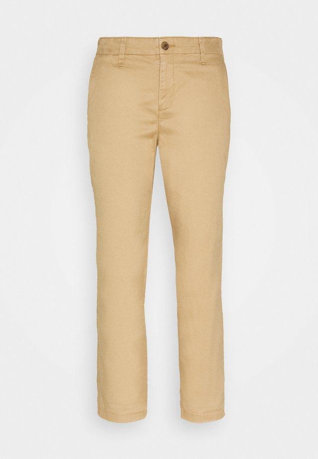 GIRLFRIEND - Chino kalhoty - beige