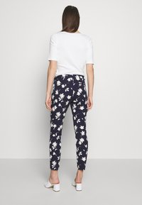 GAP - ANKLE BISTRETCH - Pantaloni - blue/floral print - 2