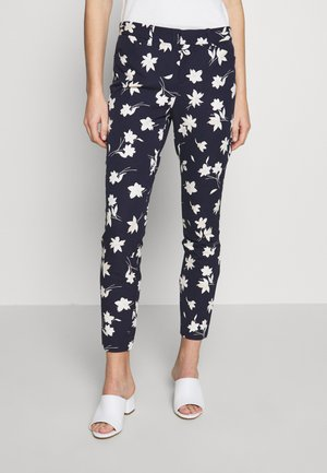 ANKLE BISTRETCH - Pantalon classique - blue/floral print