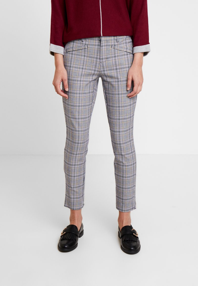 GAP - SKINNY ANKLE - Trousers - grey plaid