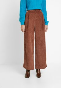 GAP - PLEATED WIDE LEG - Kangashousut - root brown - 0