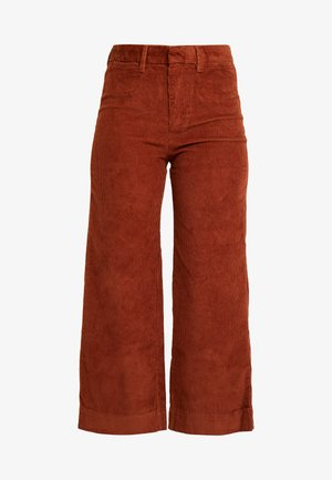 HIGH RISE CROPPED - Kalhoty - henna brown