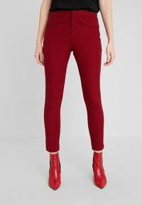 GAP - ANKLE BISTRETCH - Pantalones - black/red - 0