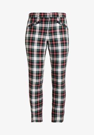 ANKLE ZIPPER HOLIDAY - Pantaloni - tartan
