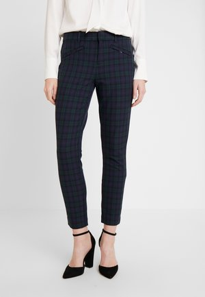 SKINNY ANKLE ZIPPER PLAID - Pantalones - blackwatch plaid