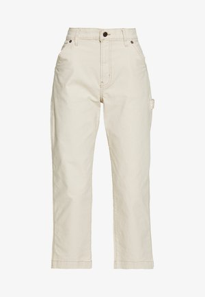 HIGH RISE CARPENTER - Pantalon classique - french vanilla