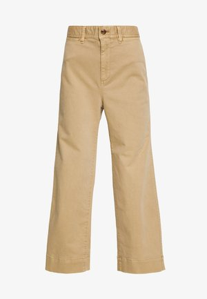 WIDE LEG CHINO SOLID - Flared jeans - khaki