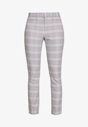 ANKLE  BISTRETCH - Spodnie materiałowe - grey plaid