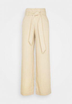 WIDE LEG SOLID - Pantalon classique - wicker