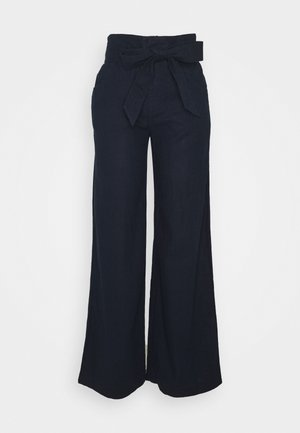 WIDE LEG SOLID - Trousers - true indigo