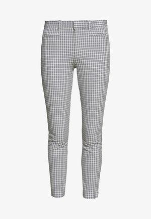 ANKLE YARNDYE BISTRETCH - Spodnie materiałowe - blue