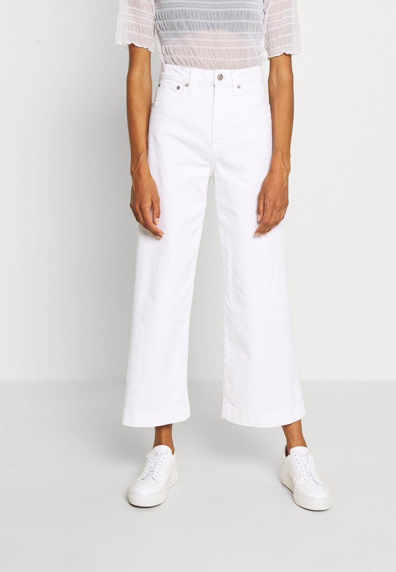 GAP - WIDE LEG ANKLE DOVE - Relaxed fit jeans - novelty dove white