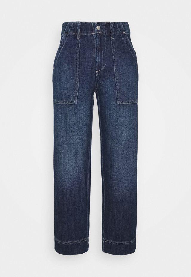 WIDE LEG CROP UTILITY - Jeans baggy - dark wash