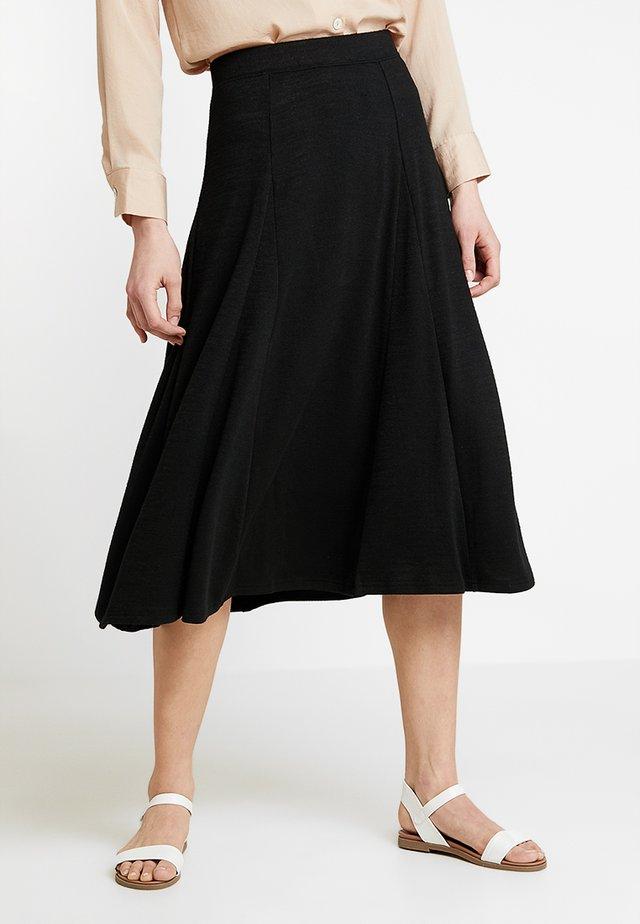 SOFTSPUN GODET SKIRT - A-line skirt - true black