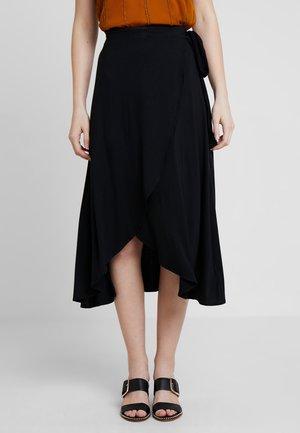 MIDI SKIRT - A-line skirt - true black