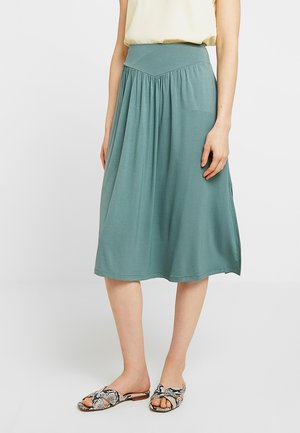 MIDI SKIRT - A-line skirt - district green