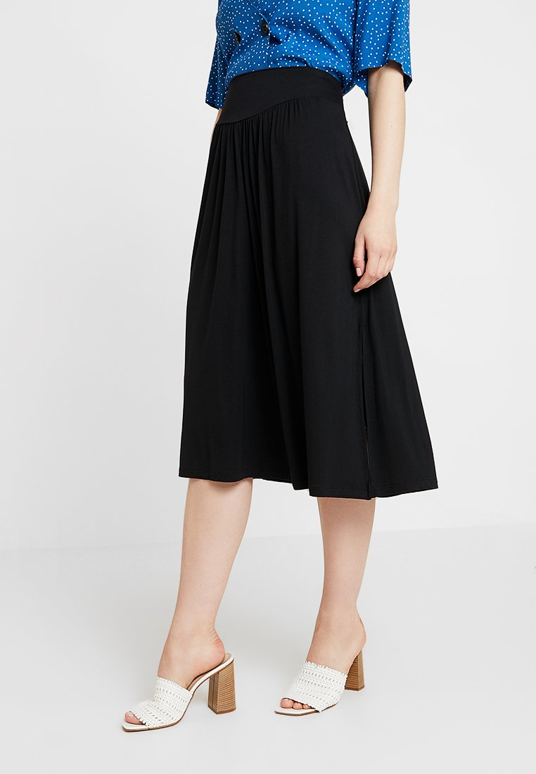 GAP - MIDI SKIRT - A-line skirt - true black