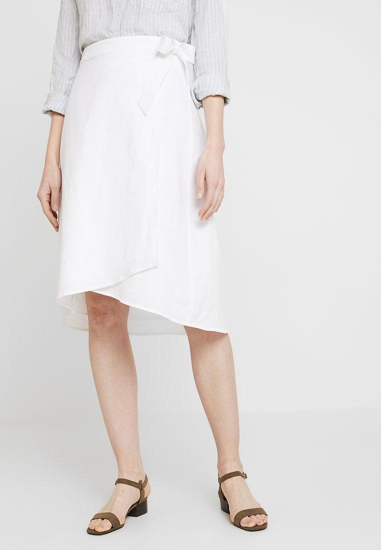GAP - WRAP SKIRT - A-line skirt - optic white