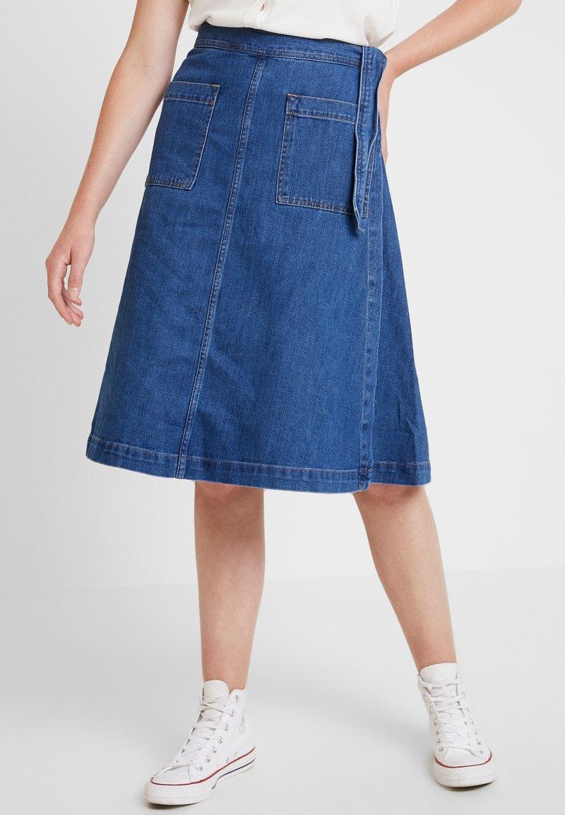 GAP - WRAP SKIRT - A-snit nederdel/ A-formede nederdele - medium wash