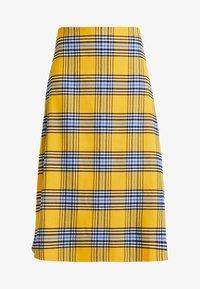 GAP - FLARE SKIRT - Spódnica trapezowa - yellow - 4