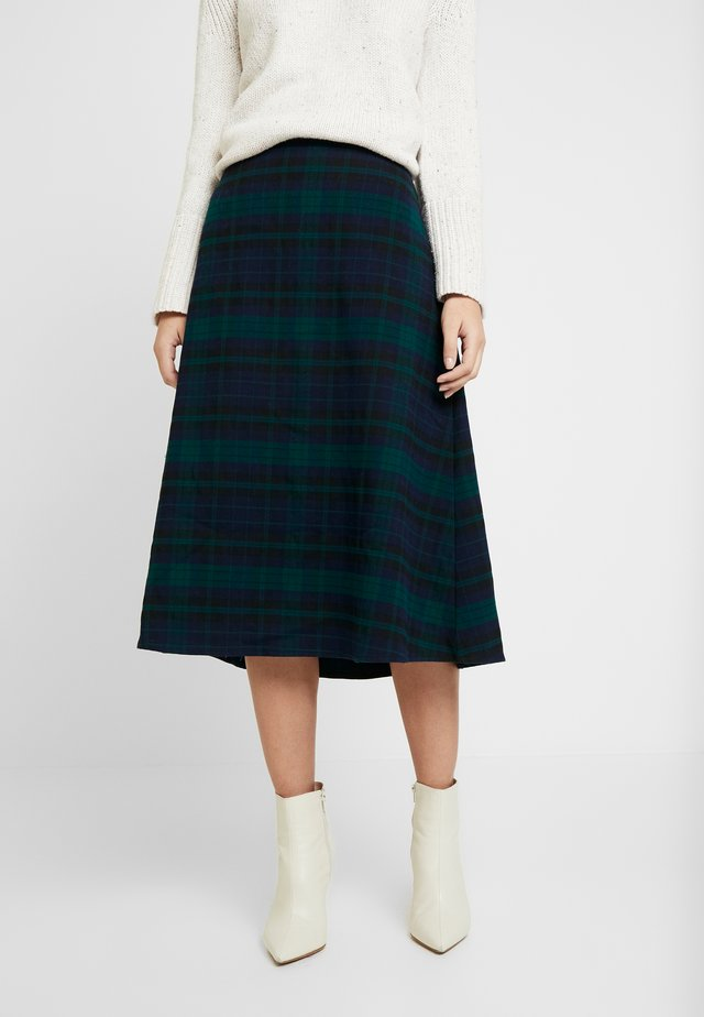 FLARE SKIRT - Spódnica trapezowa - blackwatch