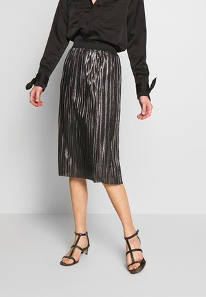 PLEATED SKIRT - Jupe crayon - silver