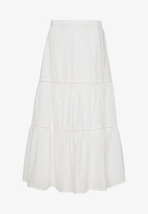 TIERD MIDI SKIRT - Áčková sukně - optic white