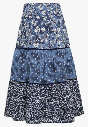 TIERD MIDI SKIRT - A-line skirt - blue