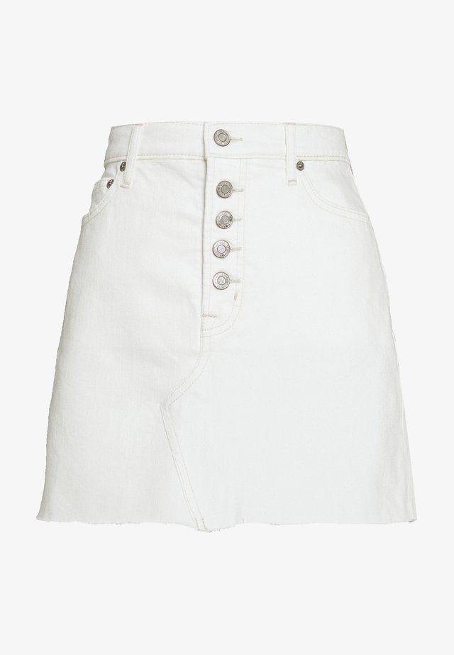 MINI A LINE SKIRT - Spódnica mini - ecru