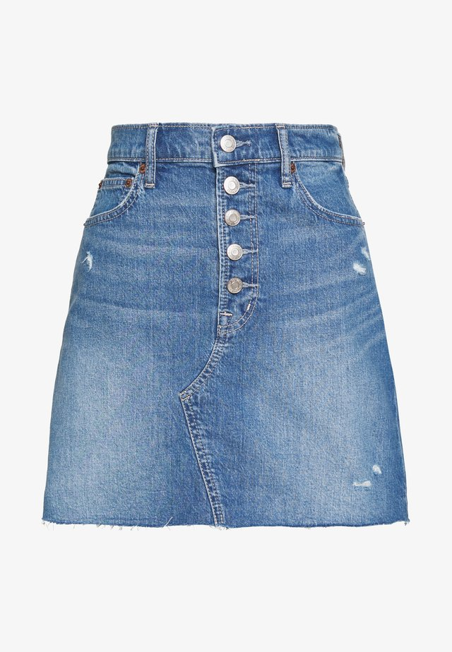 MINI A LINE SKIRT - Minirock - medium indigo