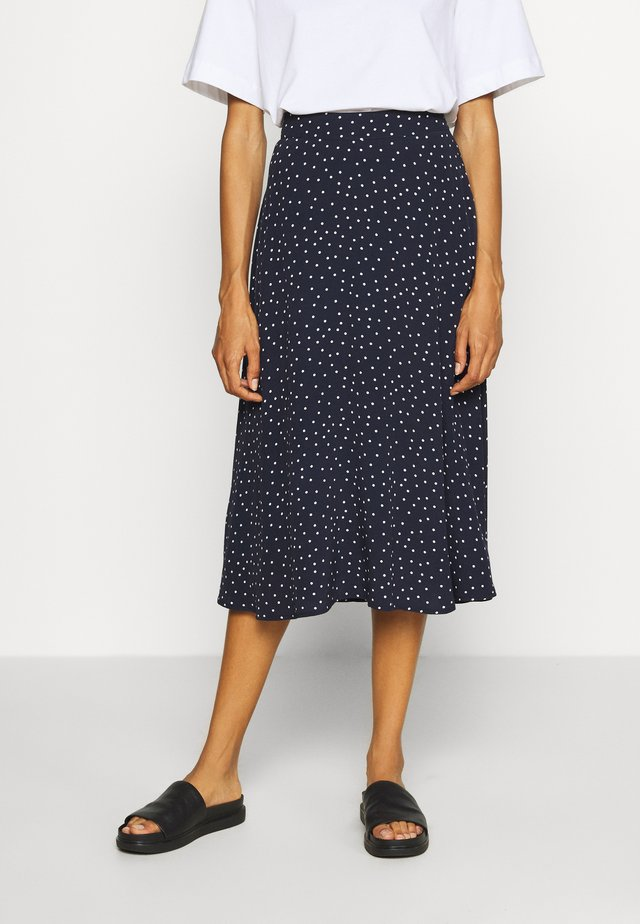 CIRCLE SKIRT - A-linjainen hame - navy