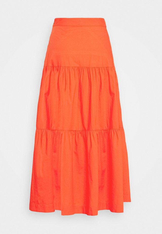 TIERD SKIRT - Maxi skirt - coral