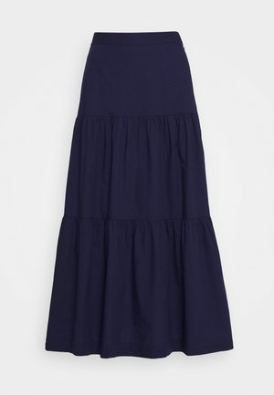 TIERD SKIRT - Jupe longue - new navy