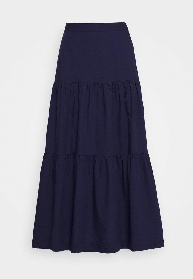 TIERD SKIRT - Maxi skirt - new navy