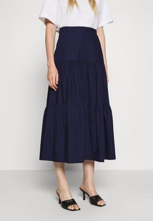 TIERD SKIRT - Plisovaná sukně - new navy