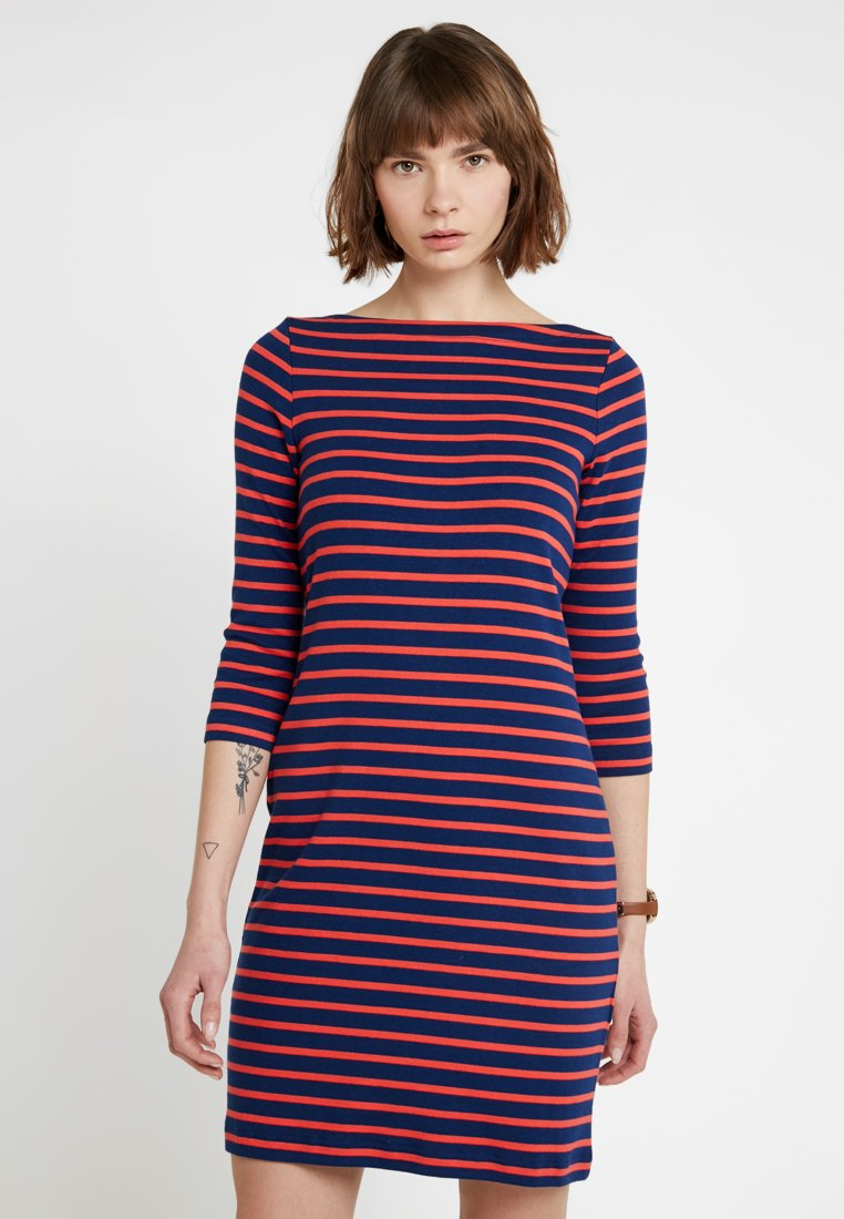 GAP - MODERN BOATNECK DRESS - Jerseykleid - blue/red