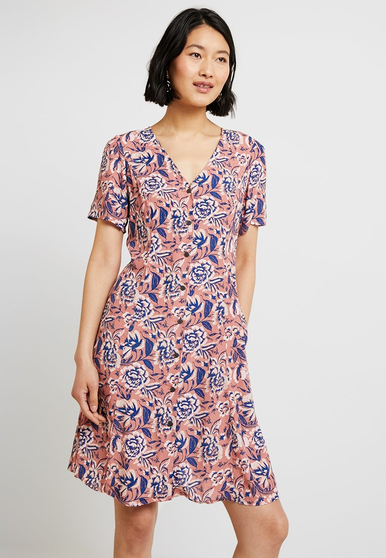 GAP - V NECK DRESS - Shirt dress - pink
