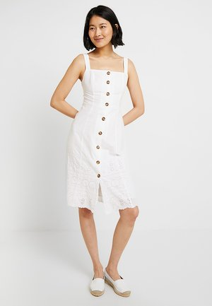 EYELET - Shirt dress - optic white