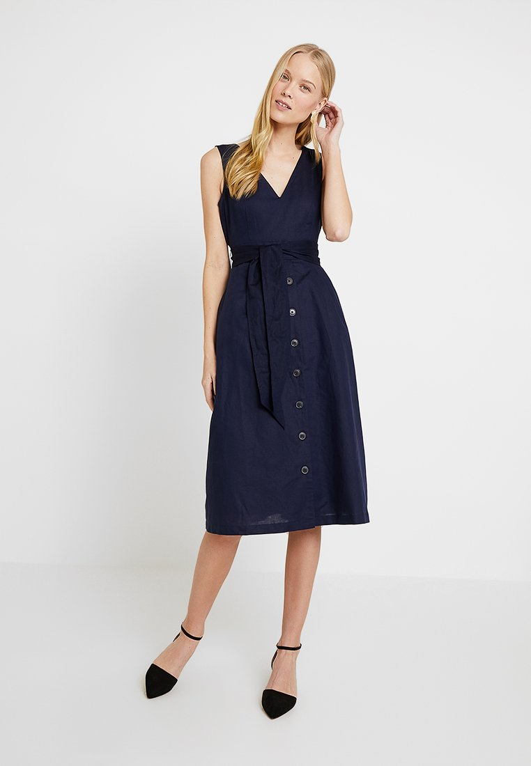 GAP - BUTTON DOWN MIDI DRESS - Freizeitkleid - navy uniform
