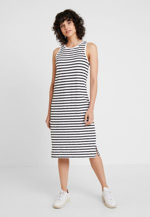 TANK MIDI - Jersey dress - black/white