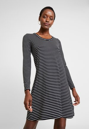 SWING - Jersey dress - black/white