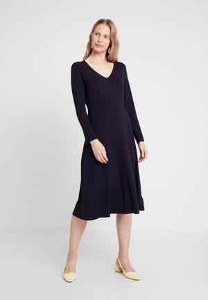 MIDI DRESS - Jersey dress - navy uniform