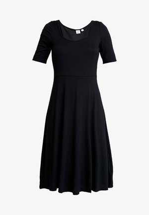 SCOOP SWING DRESS - Sukienka z dżerseju - true black