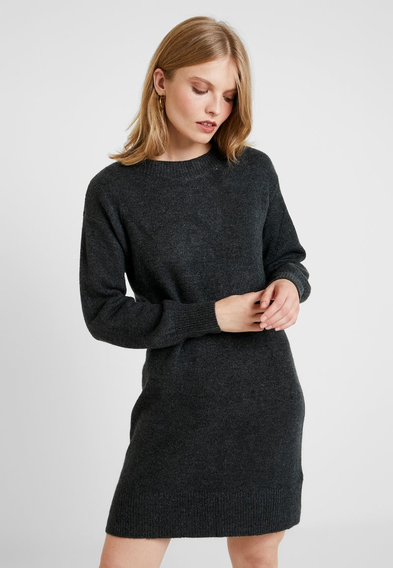 GAP - CREW - Strickkleid - charcoal heather
