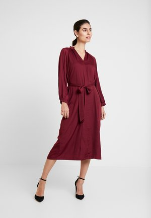 ZEN MIDI - Day dress - bell burgundy