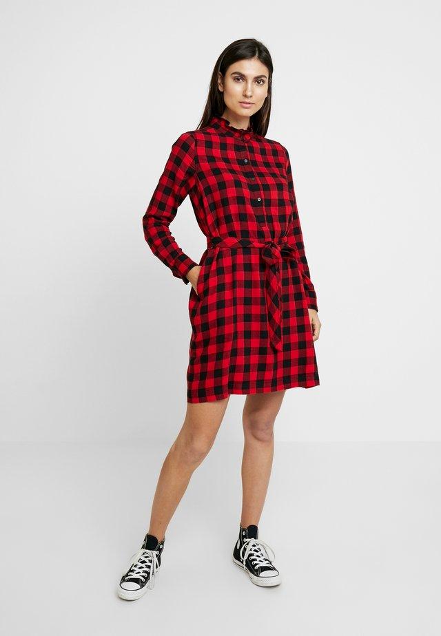 DRESS - Shirt dress - red