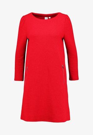 ALINE ZIP OTTOMAN - Jumper dress - pure red