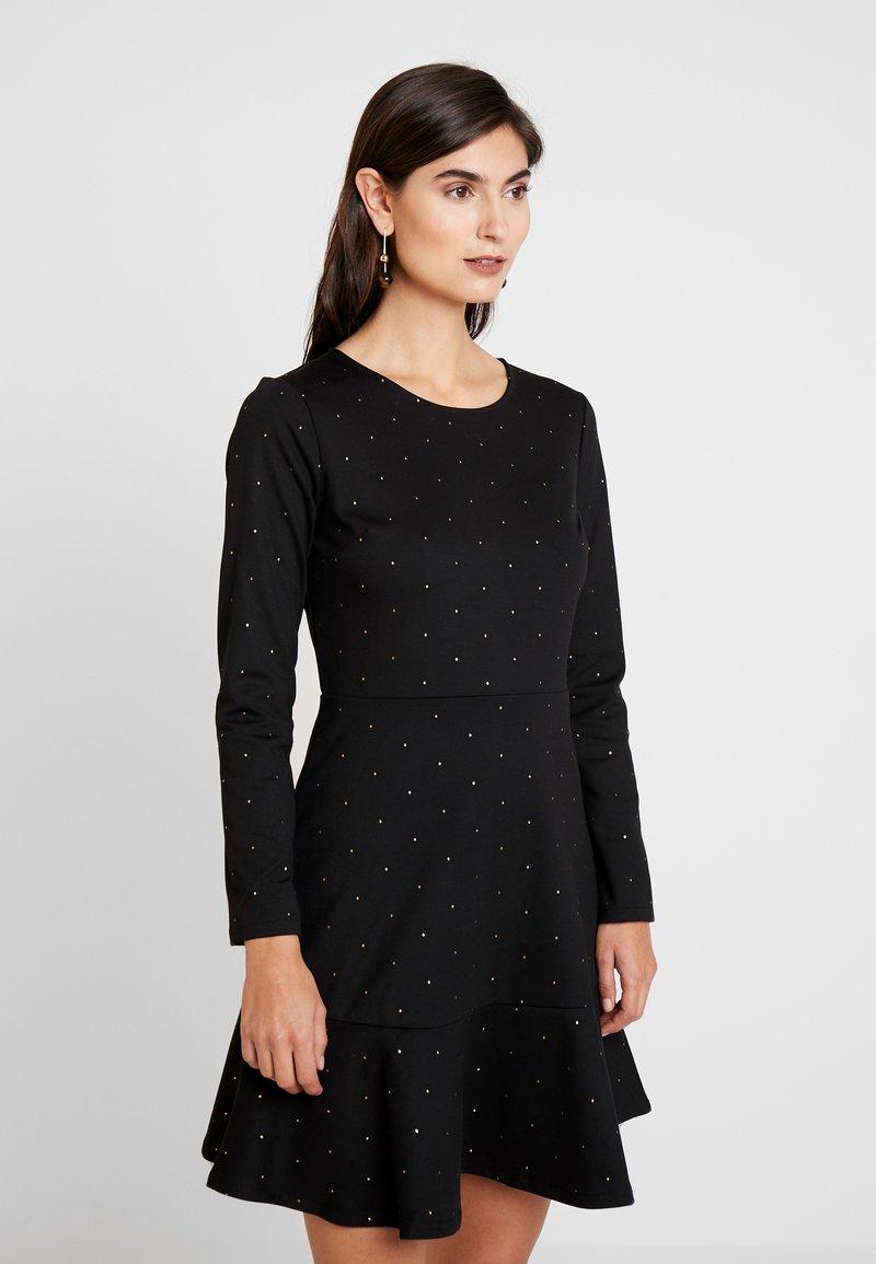 GAP - PONTE DRESS - Vestito di maglina - black/gold
