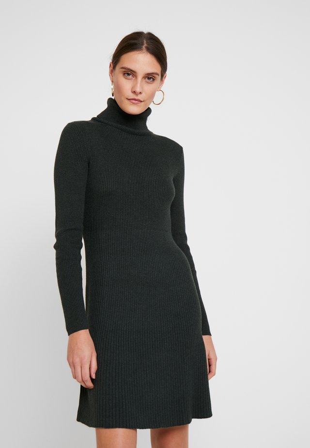 DRESS - Jumper dress - olive heather