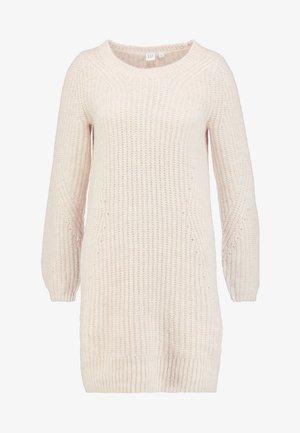 CREW DRESS - Strikket kjole - oatmeal heather